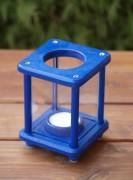 Mini-Dekolampe, Holz, blau