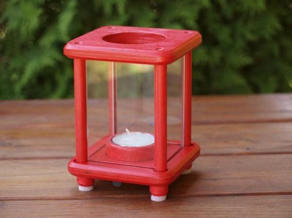 Mini-Dekolampe, Holz, rot