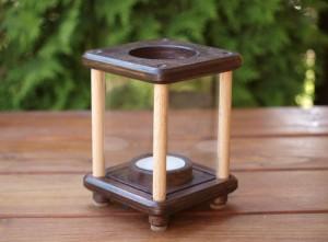 Mini-Dekolampe, Holz, dunkelbraun