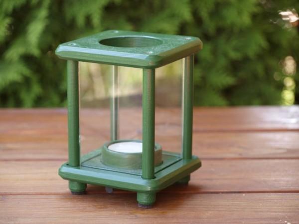 Mini-Dekolampe, Holz, grün