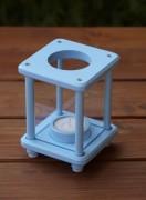 Mini-Dekolampe, Holz, hellblau