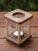 Mini-Dekolampe, Holz, hellbraun