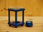 Duftlampe, Holz, blau