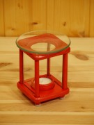 Duftlampe, Holz, rot